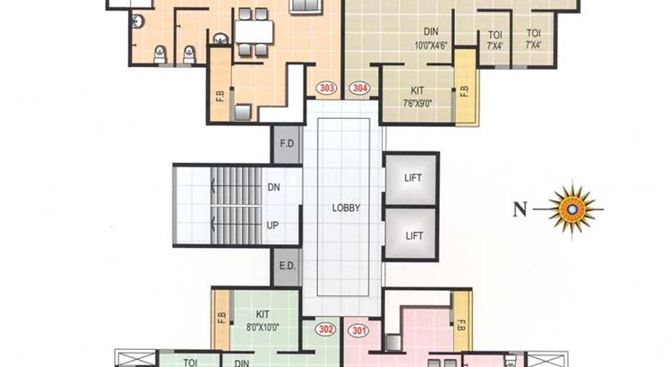 Priya Tower Typical Floor Plan