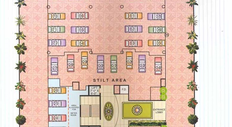 Kasturi Heights Ground Floor Plan
