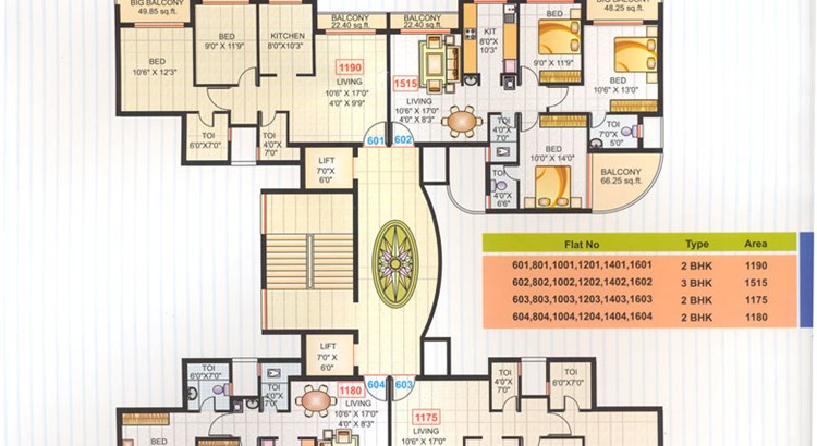 Kasturi Heights floor plan