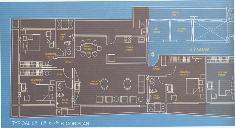 Rustomjee La Roche Floor Plan