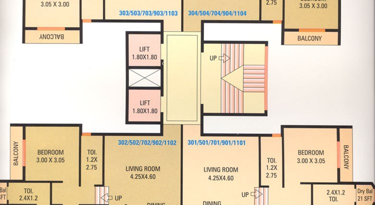 Maitri Tower floor plan