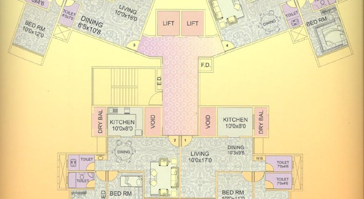Bhakti Residency Even Floor Plan