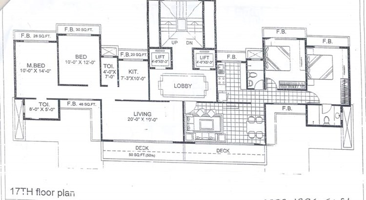 Trishul Terrace Annex 17th Floor Plan