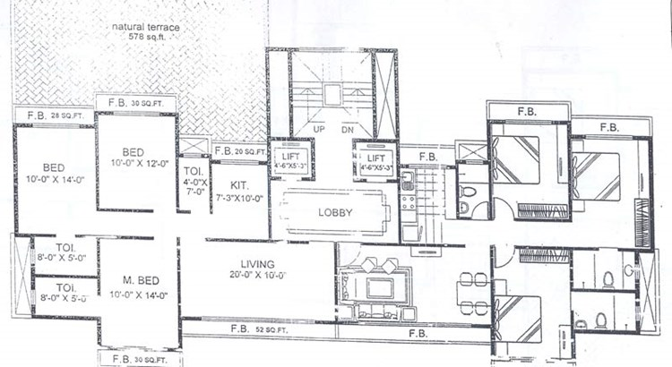 Trishul Terrace Annex 3rd Floor Plan