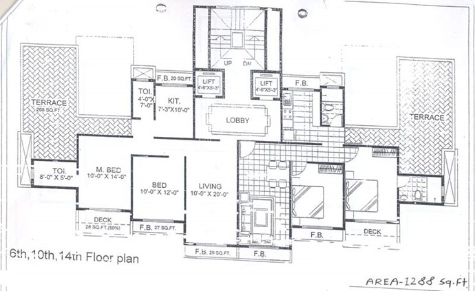 6th, 10th and 14th Floor Plan
