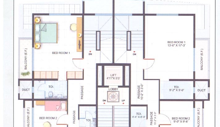 Nandini Upper Floor Plan