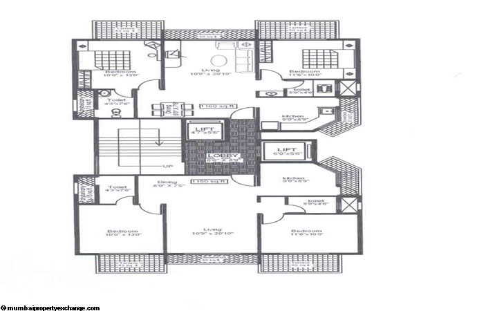 Balaji Amrut Even Floor Plan
