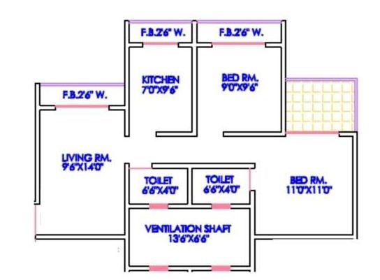 Matoshree Nagar Phase II Floor Plan
