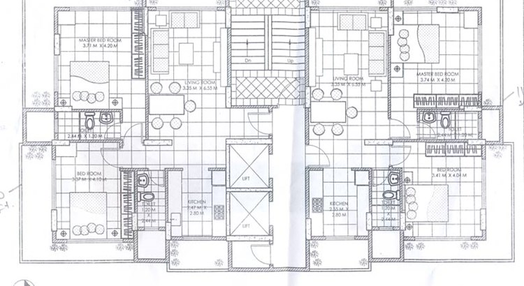 Lotus Floor Plan of 1st to 6th