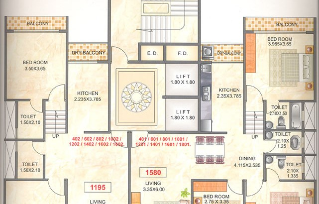 Mahapragya Heights Even Floor Plan
