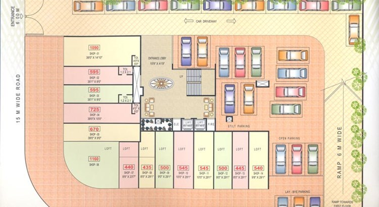 Shree Krishna Tower Ground Floor Plan