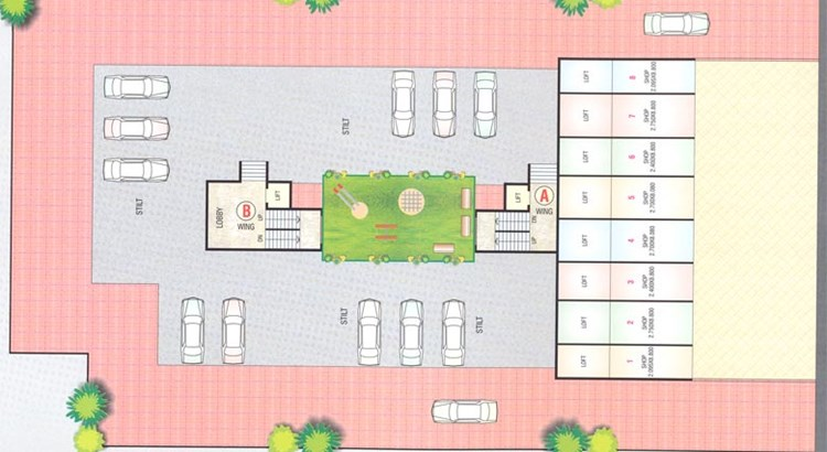 Shikhar Complex Ground Floor Plan