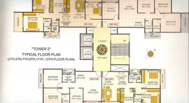 Sky Avenue Floor Plan