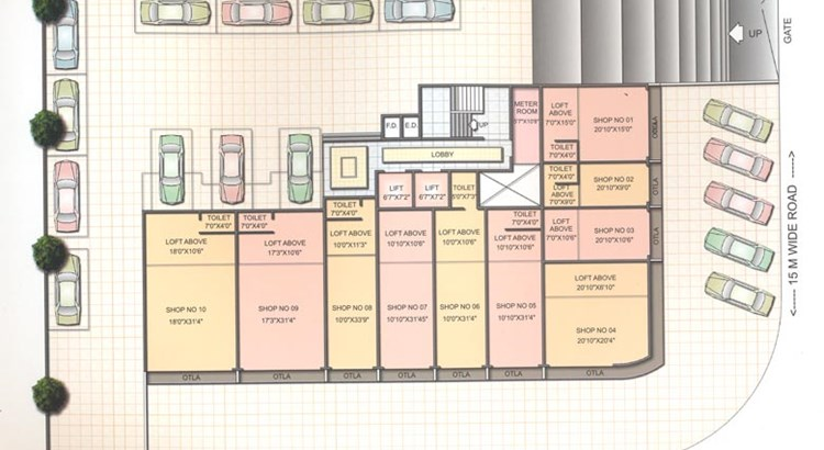 Shree Shraddha Avenue Ground Floor Plan