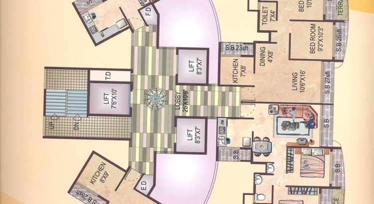 Bhoomi Colossa Even Floor Plan