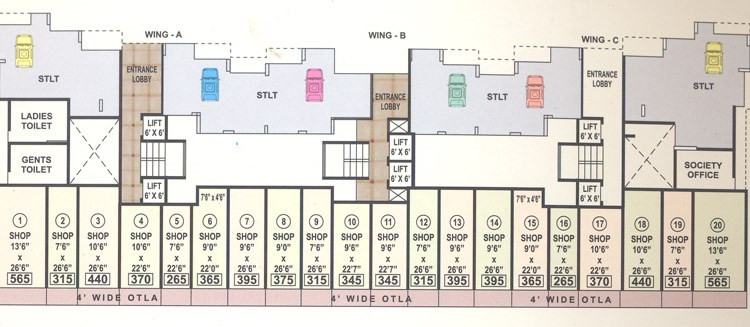 Sanskruti Ground Floor Plan