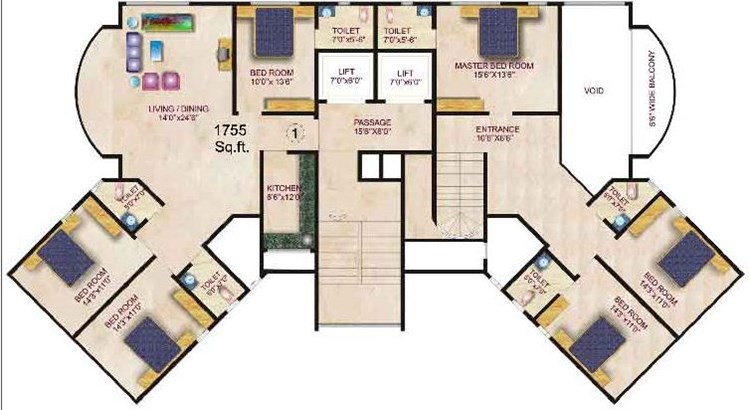 Gaurav Palace Floor Plan II