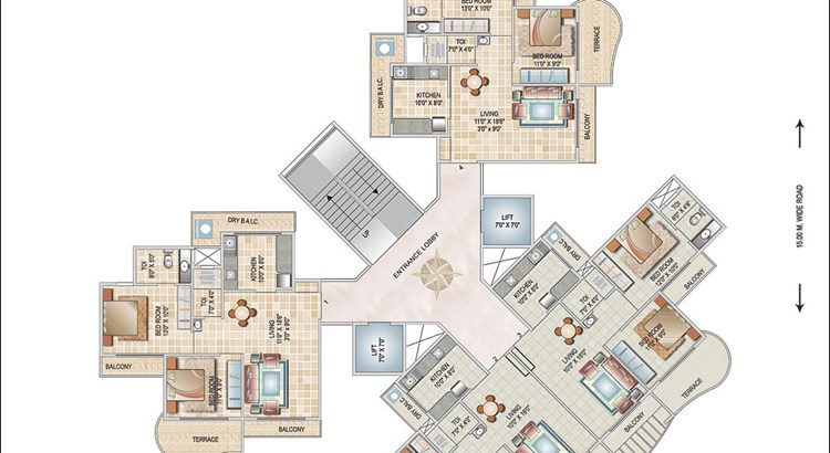 Monarch Orchid Floor Plan I