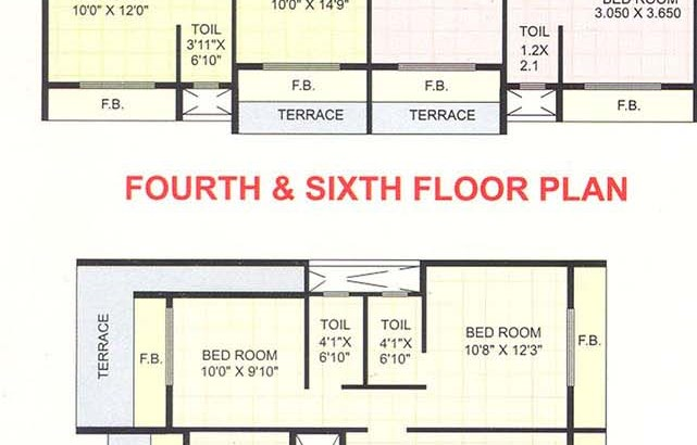 Uma Darshan 4th, 6th and 7th Floor Plan