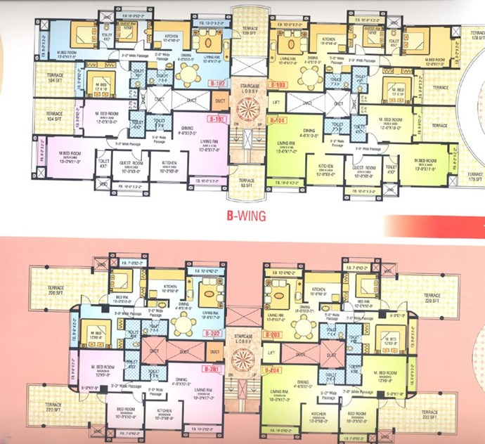 1 Floor Plan B Wing