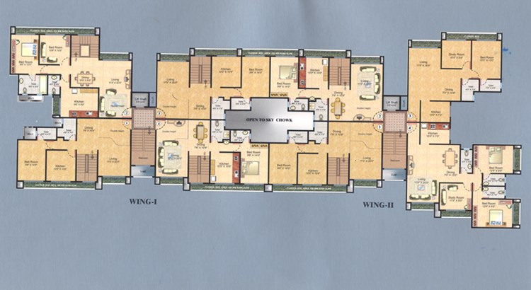 Sunshine Tower Sixth Floor Plan