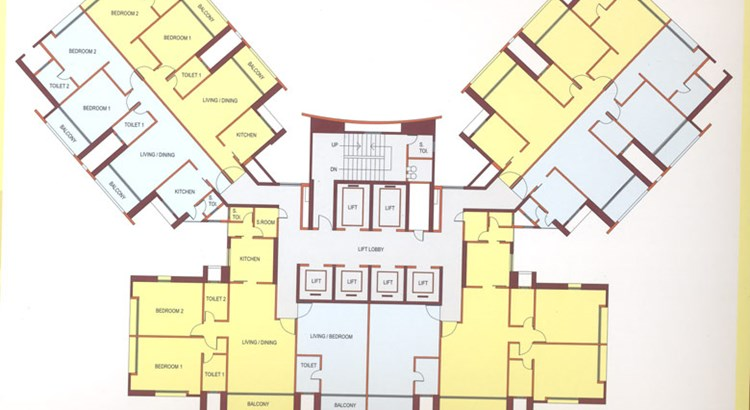 Ashok Tower Floor Plan I