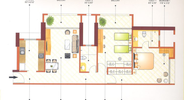 Ashok Towers Floor Plan II