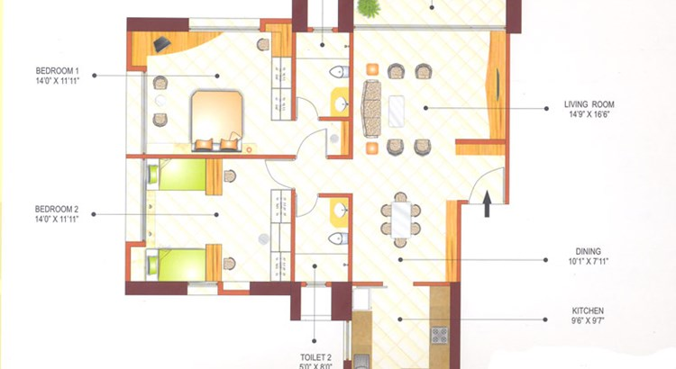 Ashok Tower Floor Plan III