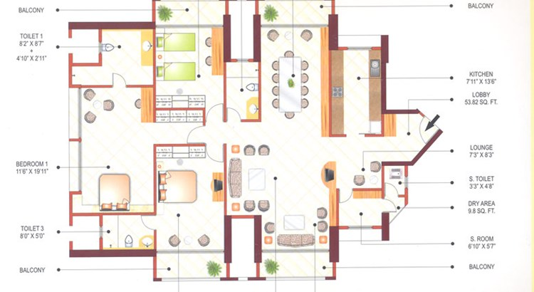Ashok Towers Floor Plan V
