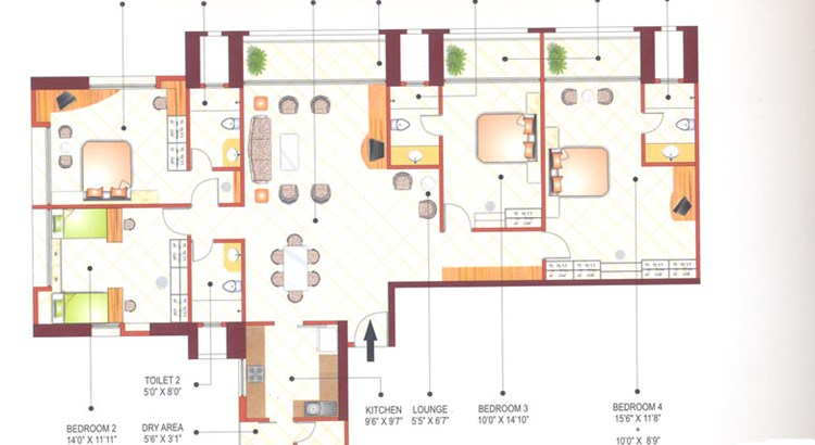 Ashok Towers Floor Plan VI