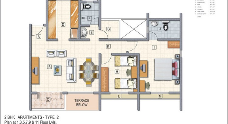 El Castillo Floor Plan II