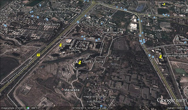 Lodha Luxuria Google Earth