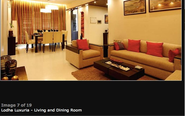 Lodha Luxuria Living Area