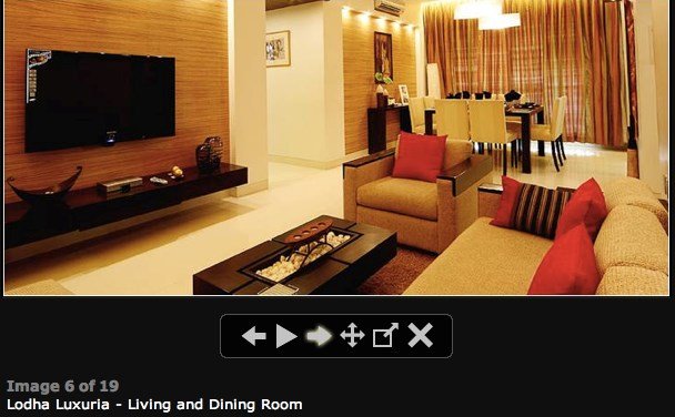 Lodha Luxuria Living Room