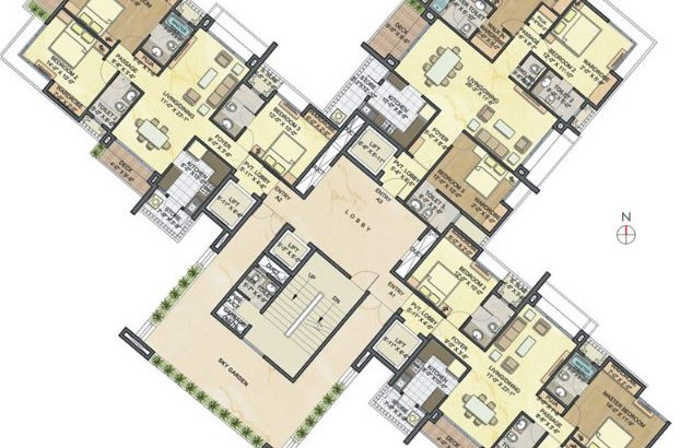 Lodha Luxuria floor plan 2