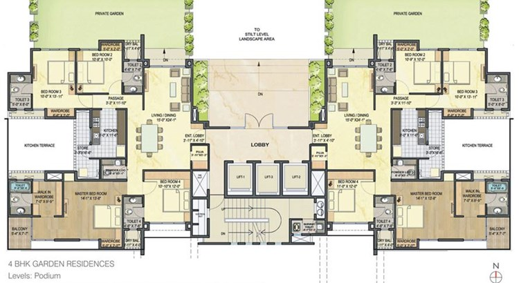 Lodha Luxuria floor plan 3