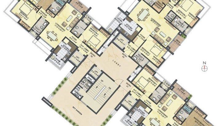 Lodha Luxuria floor plan 4