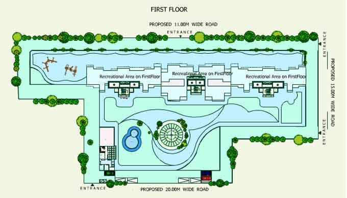 Sea Queen Excellency 1st Floor Plan