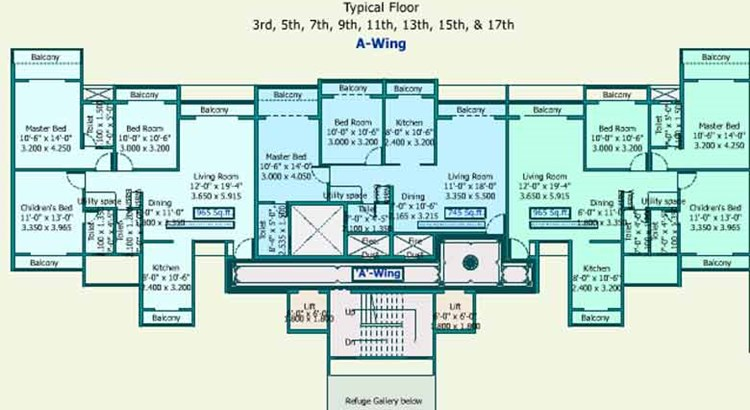 Sea Queen Excellency Floor Plan I