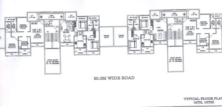 Sapphire 4th and 10th Floor Plan