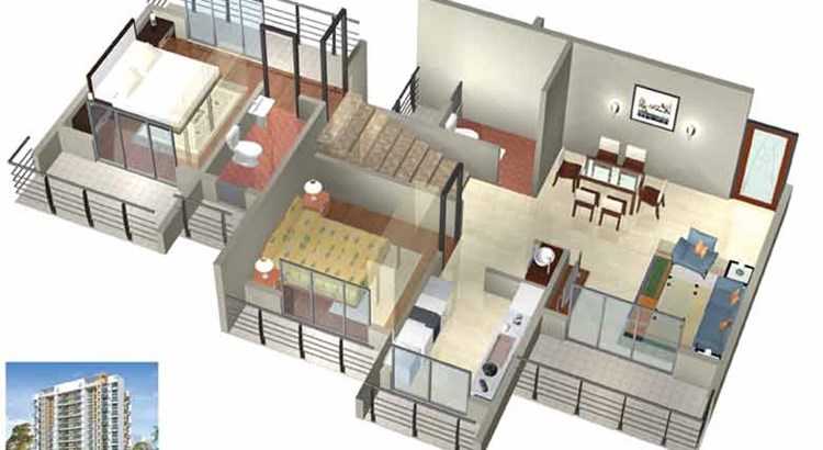 Shreeram Arcade 3 D Floor Plan