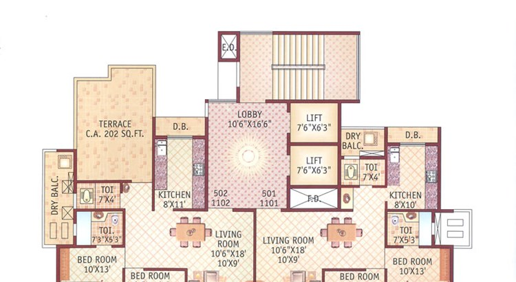 Ishwar Legacy 5th and 11th Floor Plan