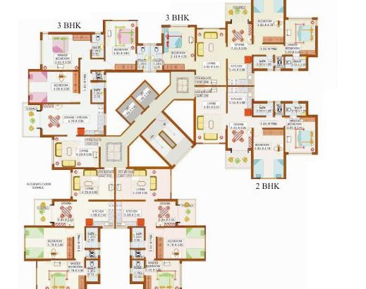 Saket Paradise 2nd Floor Plan