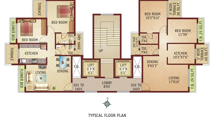 Swaraj Symphony  Even Floor Plan