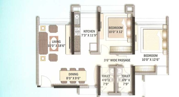 Kalpataru Riverside Floor Plan I