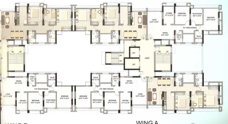 Kalpataru Riverside Floor Plan V