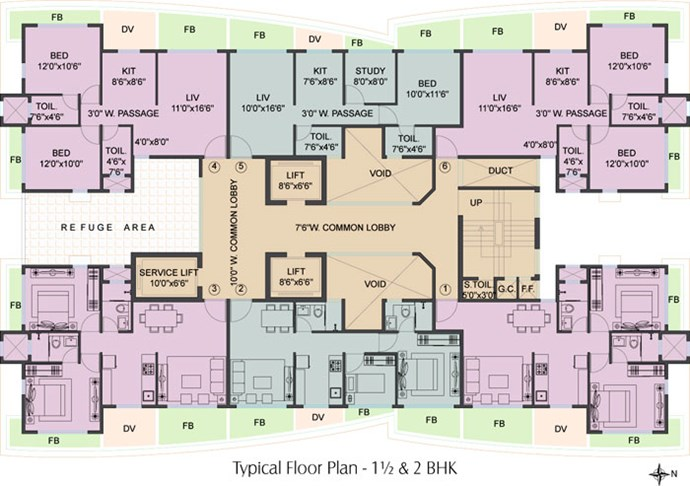 Floor Plan Tower B
