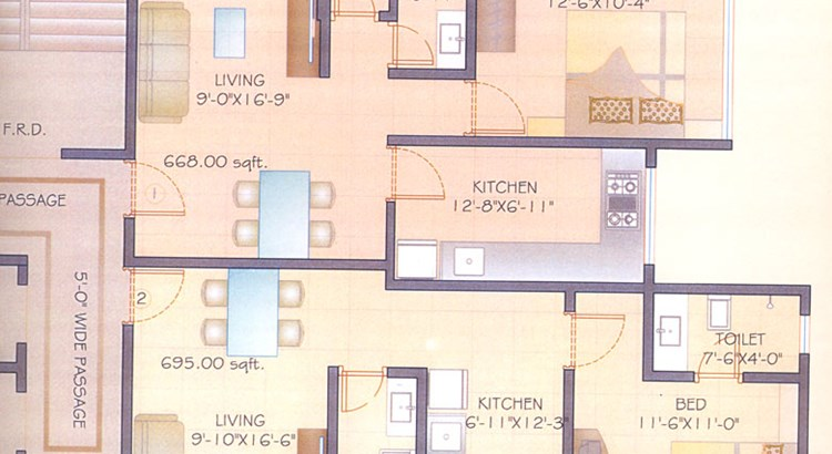 Comfort Apartment Floor Plan I