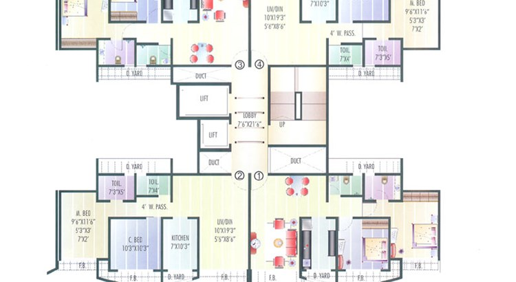 Coral Heights 4th Floor Plan