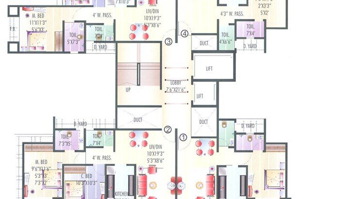 Coral Heights Floor Plan II